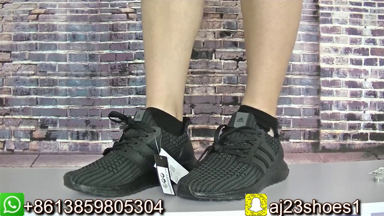 4c1627d7d239c MUST SEE  THE NICEST ULTRA BOOST YET! ( TRIPLE BLACK 4.0 COLORWAY ...