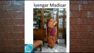 How to wear Iyengar style Madisar nine yard saree