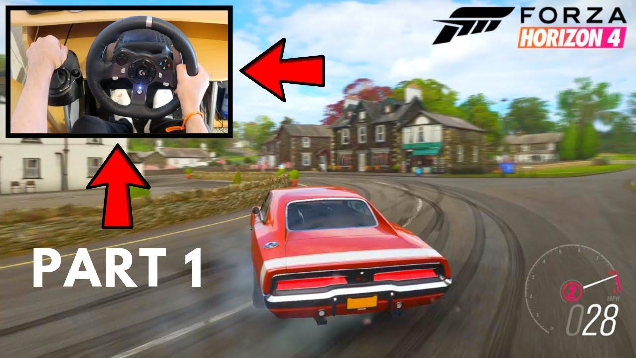 Forza Horizon 4 First Time Drifting using Logitech G G920 Steering Wheel (Part One) Gameplay