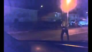 Man Drunk as Fuck Walking Against Invisible Wind