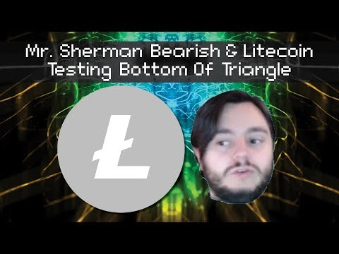 Mr. Sherman And Litecoin Testing The Bottom Of The Triangle 3/14/2018