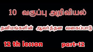 tnpsc group 2 & tet exam 10 science book 12 lesson important questions