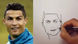 Cristiano Ronaldo Керемет салынған сурет