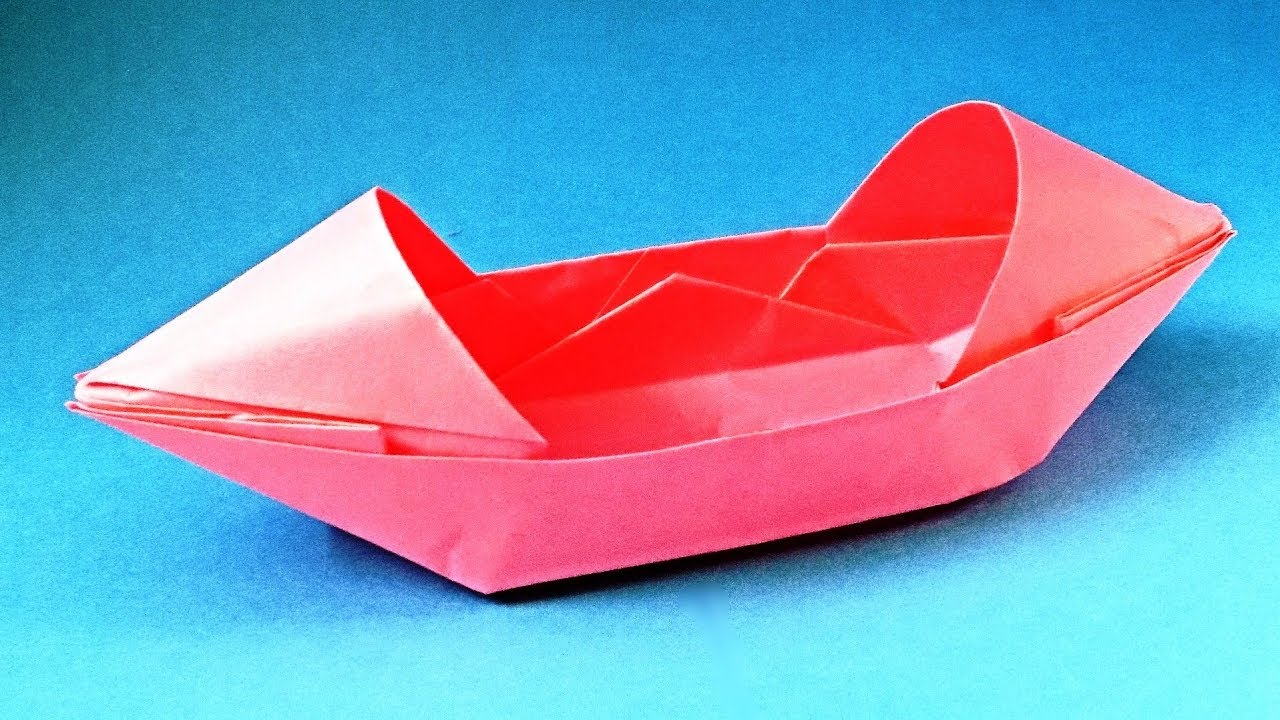 how to make a paper boat that floats origami boat canoe