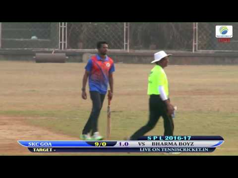 BHARMA BOYZ VS SKC GOA MATCH  SPL 2016-17 SUNRISE CRICKETERS , GOA , SAGEUM