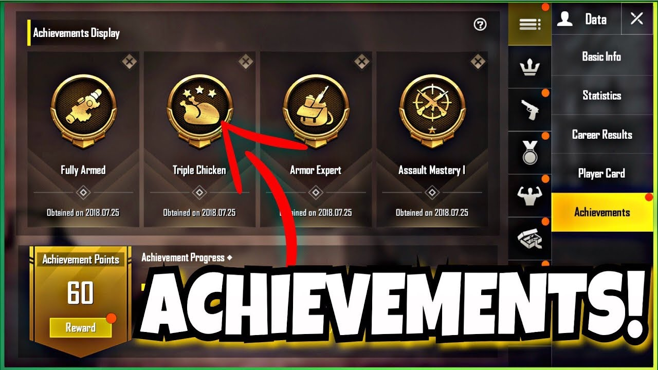 Pubg Mobile All The Details: New ACHIEVEMENTS AND REWARDS System In PUBG MOBILE