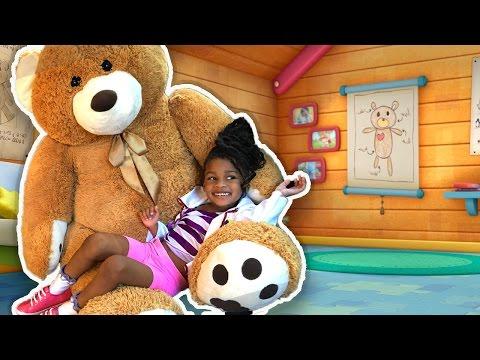 Playing Tummy Ache With Giant Teddy Bear | Talking Teddy