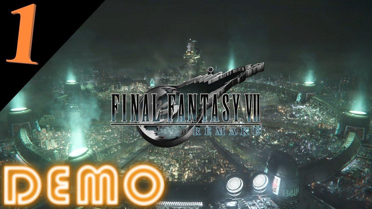FINAL FANTASY VII REMAKE DEMO Gameplay 1/3 Deutsch HD