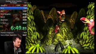 Donkey Kong Country All Stages Speedrun in 37:49