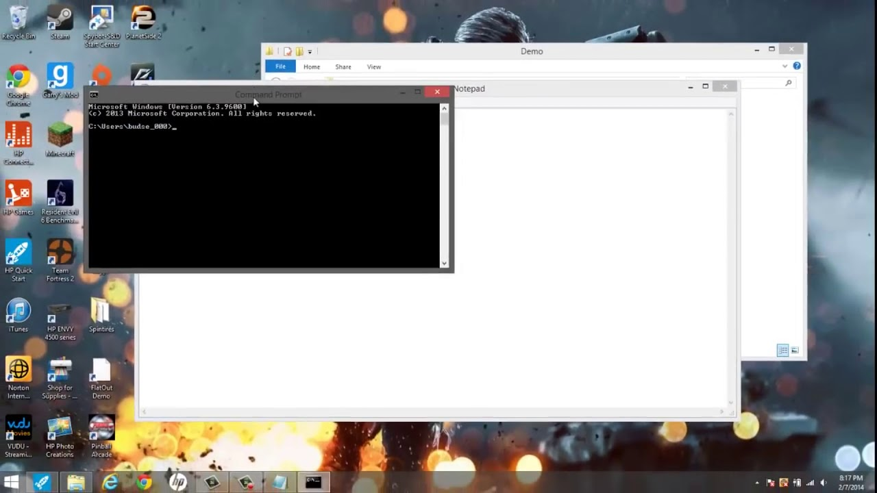 how to create a program using notepad
