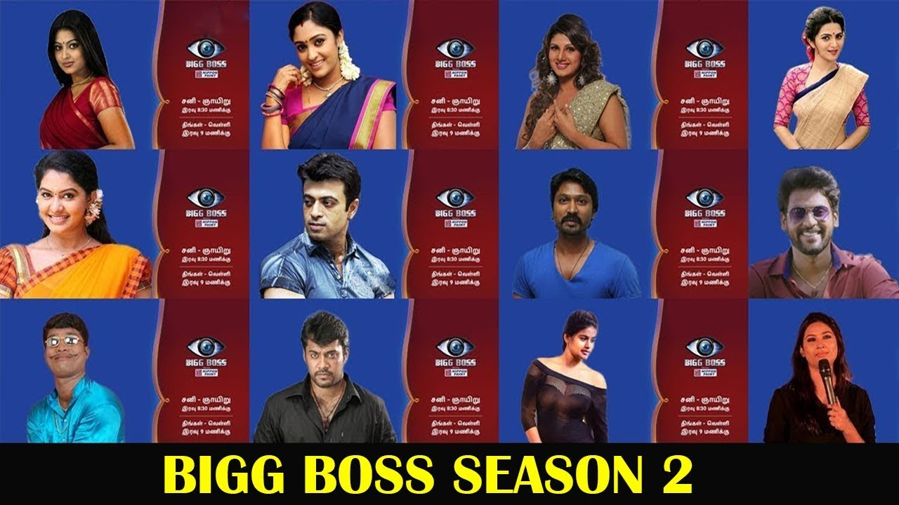 Image result for bigg boss tamil season 2 contestants