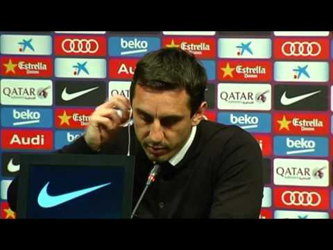 Gary Neville on Valencia's gameplan at Barcelona