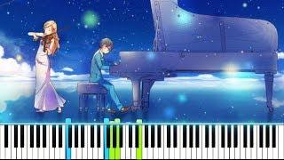 """四月は君の嘘 / Your Lie In April OST - """"My Truth ~Rondo Capriccioso~"""" (Synthesia Piano Tutorial - ピアノ)"""