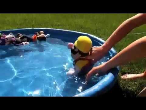 Mario and Luigi Go Swimming