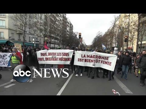 Massive protests paralyze Paris l ABC News
