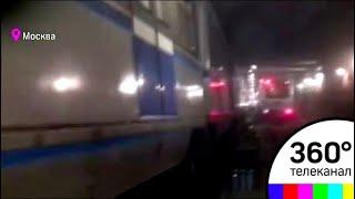 Видео аварии на станции метро Щелковская: поезд въехал в бетонную стену