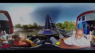 riding millennium force roller coaster cedar point ohio 360 virtual reality