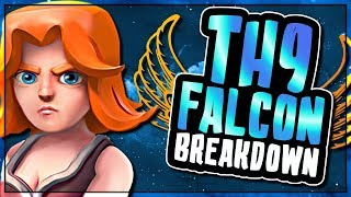 TH9 FALCON | BREAKING DOWN THE HOTTEST NEW ATTACK STRATEGY FOR TOWN HALL 9 | Clash of Clans