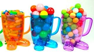 Сюрпризы в стаканчиках. В каждом сюрпризе забавная игрушка с подзаводом