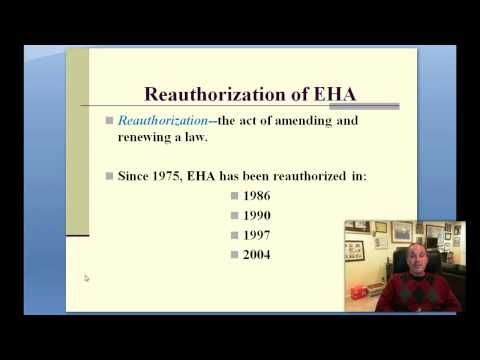 Part 5--History of Legal Issues in Special Education