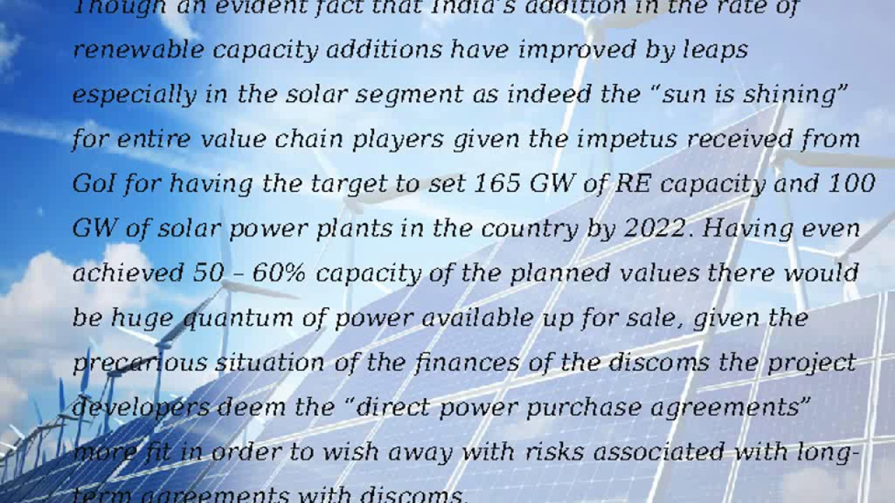 Direct Power Purchase Agreements In India Youtube