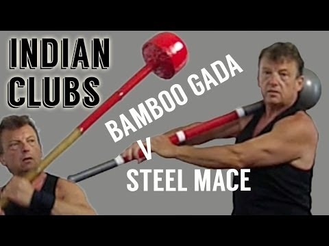 Indian Clubs - Bamboo Gada V Steel Mace