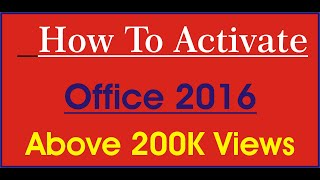 #How to activate OFFICE 2016 easily without key Hindi/Urdu