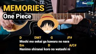 MEMORIES - One Piece (Guitar Chords Tutorial with Lyrics)