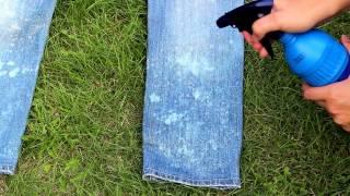 DIY Acid Wash Jeans