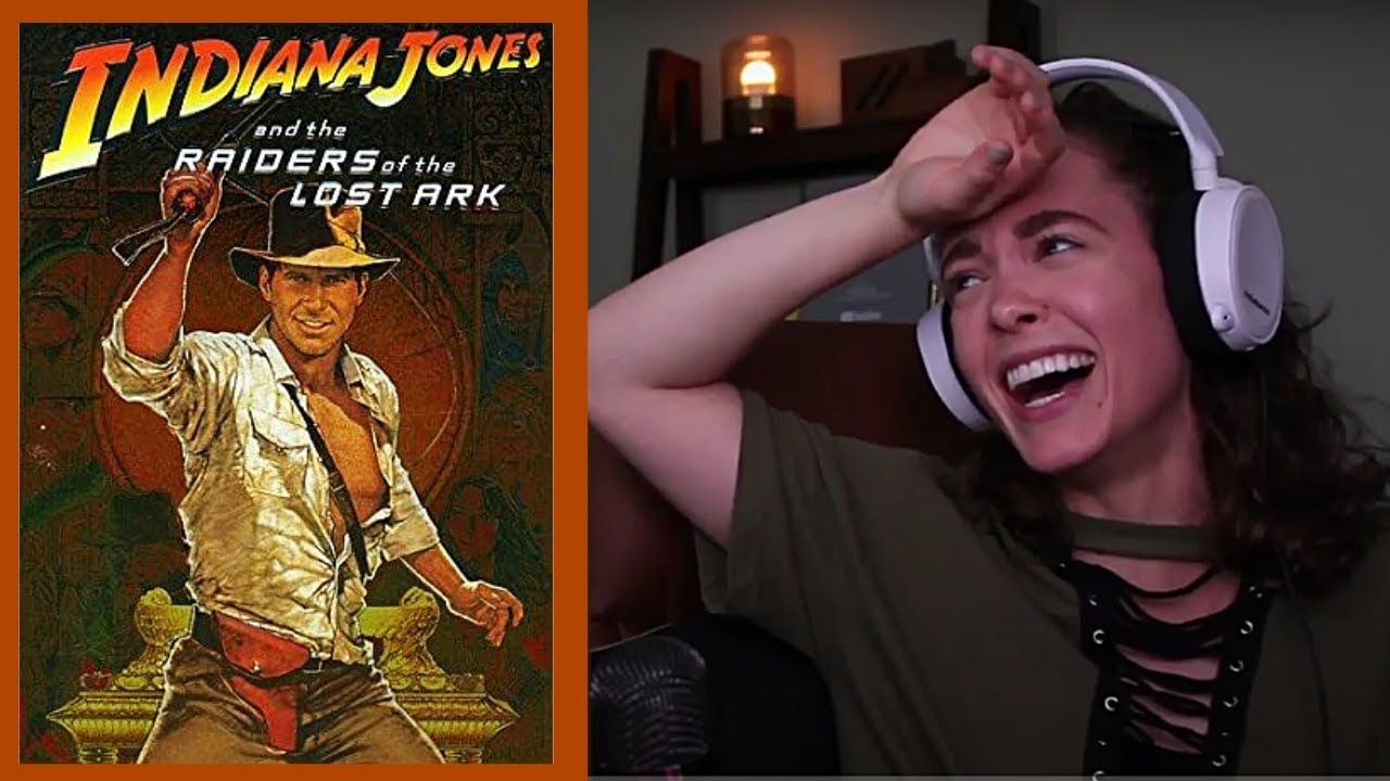 watching RAIDERS OF THE LOST ARK!!! (and screaming a lot)