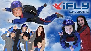 KIDS GO INDOOR SKYDIVING!! FUNnel V Competition @ iFly Dallas, TX CHALLENGE Who Flew Better? thumbnail
