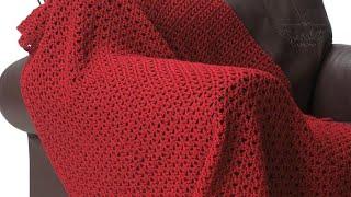 Crochet Bernat Red Blanket Pattern