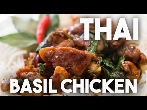 Thai Basil chicken, Simple to prepare – One wok(pot) dish