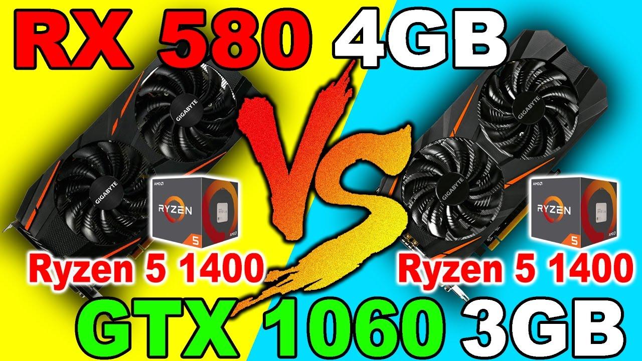 Rx 580 4gb Vs Gtx 1060 3gb Ryzen 1400 Dx12 And Dx11