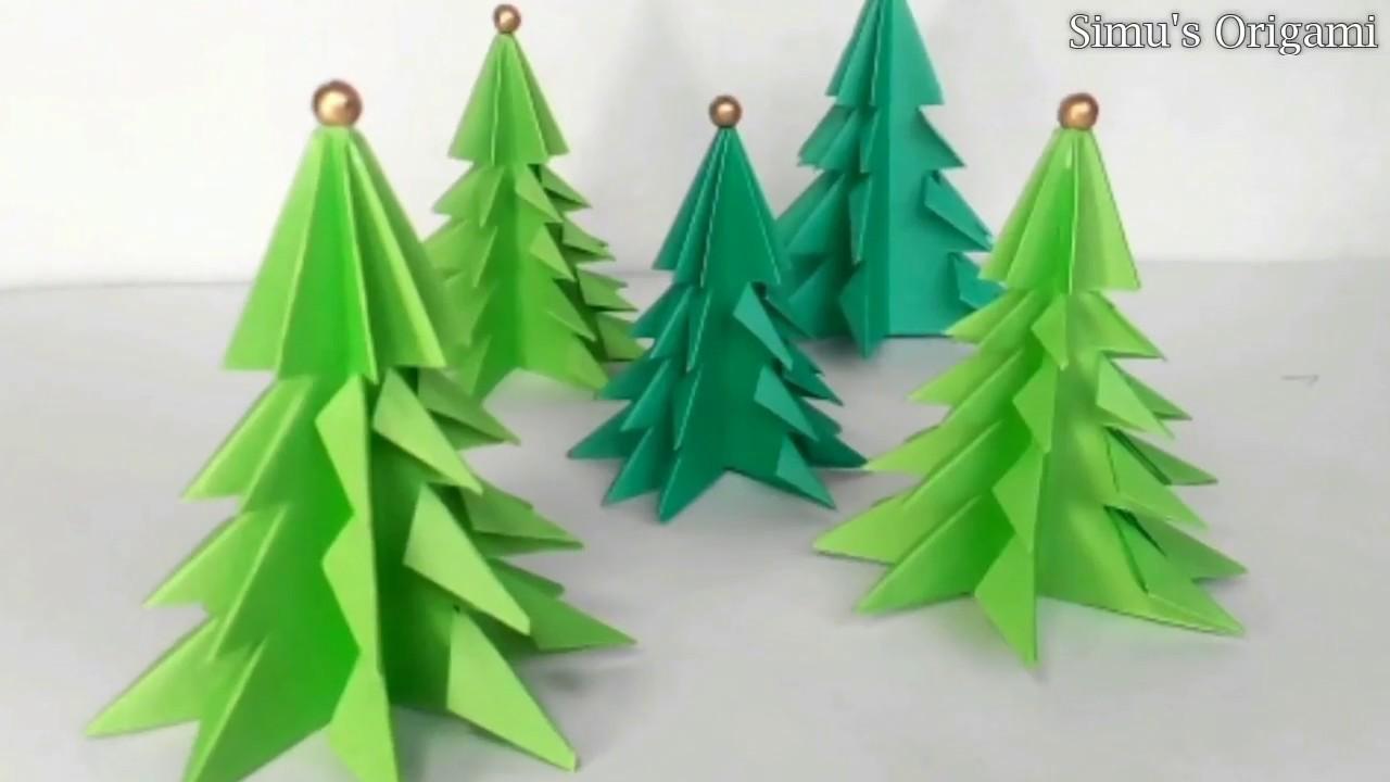 Christmas Tree 3d Paper Christmas Tree Diy Paper Craft Ideas 77