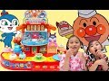 Anpanman 麵包超人廻轉壽司玩具 面包超人 過家家玩具 麵包超人迴轉壽司玩具製作遊戲組 玩具開箱一起玩玩具Sunny Yu