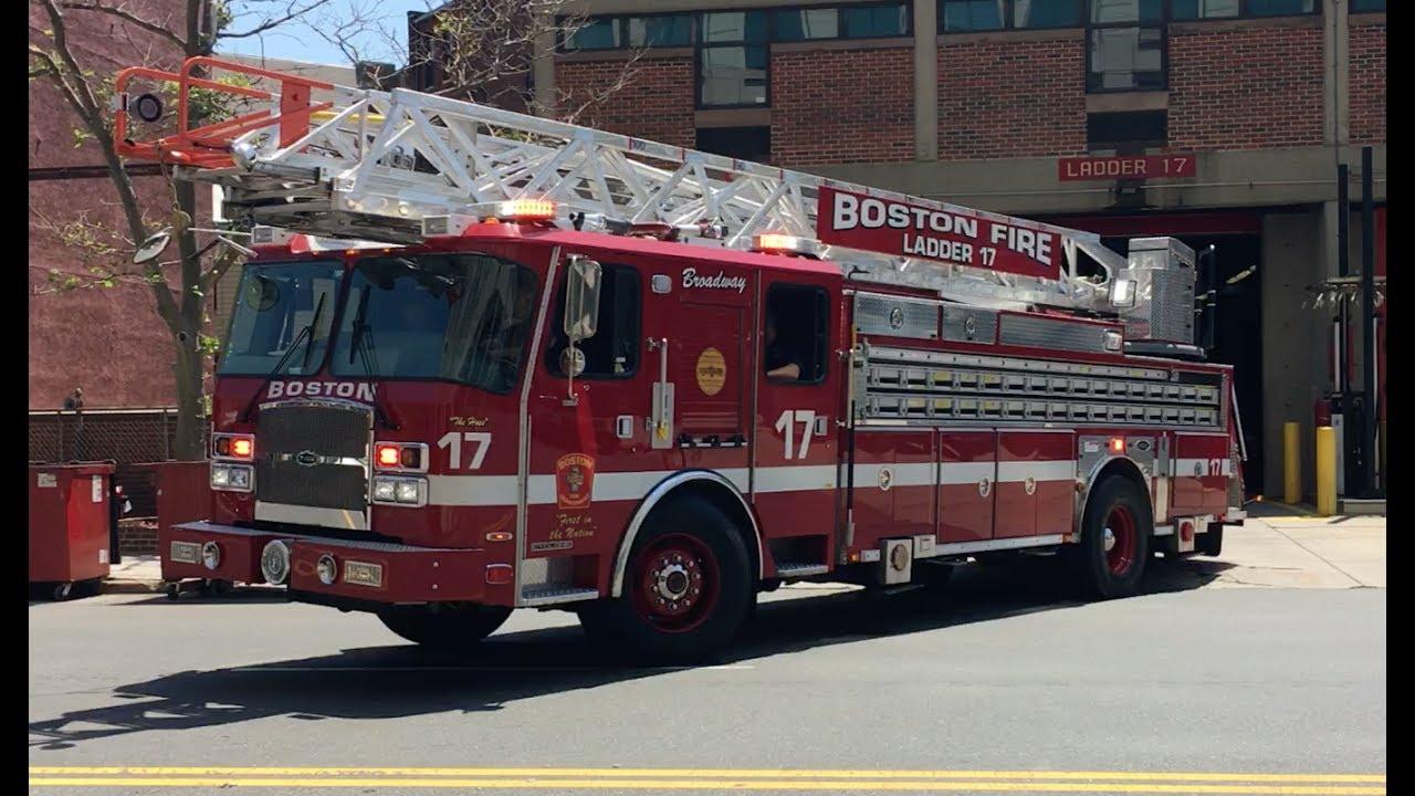Boston Fire - Engine 7 & Ladder 17 Responding - YouTube