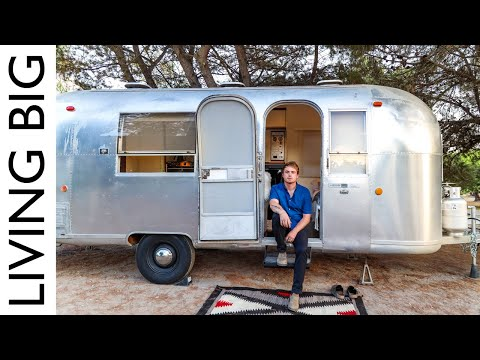 Retro Airstream Renovated Into Stylish Modern Tiny House