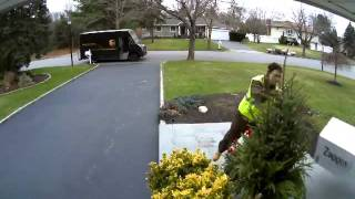 UPS Driver Flips Off Camera As He Throws Package