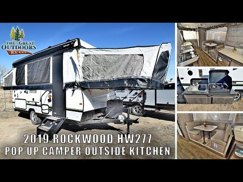 new-2019-rockwood-hw277-pop-up-camper-rv-outside-kitchen-heated-mattresses-for-sale-greeley-colorado