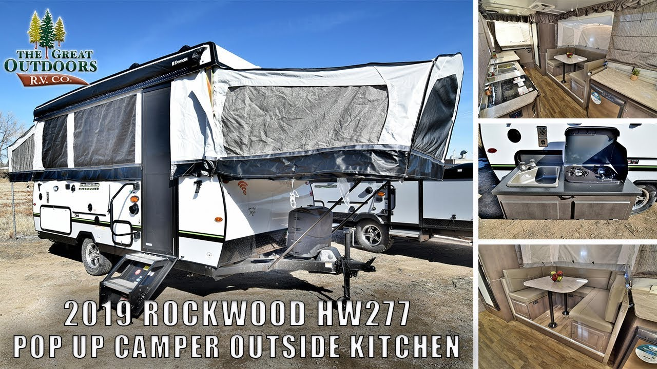 New 2019 ROCKWOOD HW277 Pop Up Camper RV Outside Kitchen Heated Mattresses  For Sale Greeley Colorado