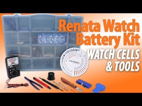 Renata Watch Battery Kit With Tools and Cells