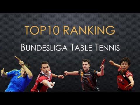 TOP10 Ranking Bundesliga Table Tennis