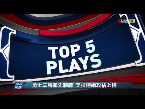 愛爾達電視20190519│【NBA】勇士三勝率先聽牌 美技連續攻佔上榜