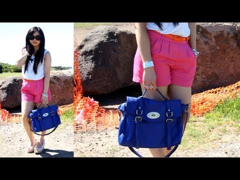 OOTD - color blocking: Shorts and Bag - 동영상
