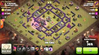 TH8 Clan War Gowipe With level 1 PEKKA - 3 Stars .