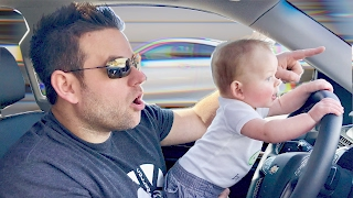 BABY DRIVING WITHOUT A CARSEAT!