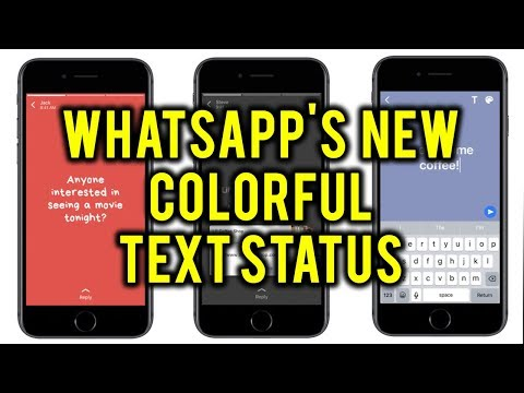WhatsApp's New Colorful Text Status Update - How to User It?