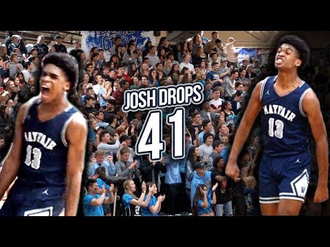 Josh Christopher Drops 41 in 2nd CIF Game! TURNT Up Crowd!! Mayfair vs Villa Park