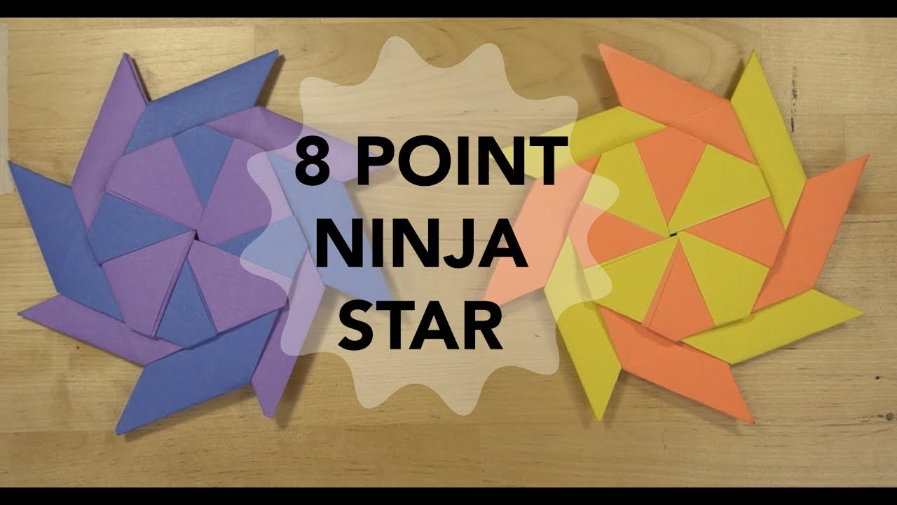 How To Make An 8 Point Ninja Star That TRANSFORMS Simple Origami
